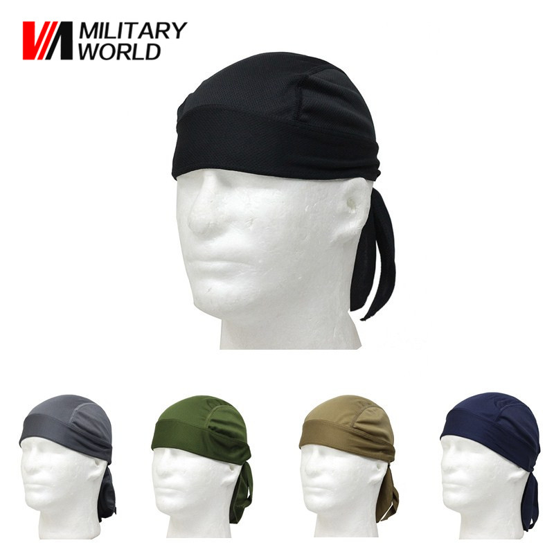 5 Color Outdoor Sports Quick Dry Cycling Cap Headscarf Headband Bicycle Cap Men Riding Bandana Pirate Hat Free Shipping*