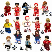 Russia Football Cup Figure Messi Ronaldo Beckham Neymar Cavani Legoing Figures Building Blocks Toys for Children With Legoings(China)
