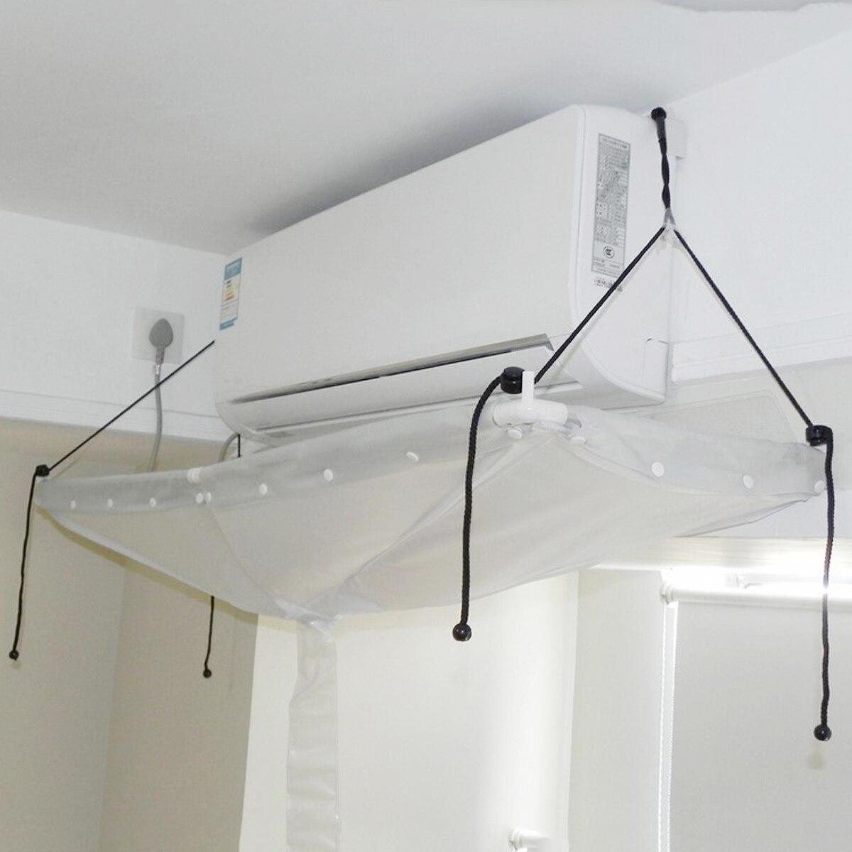 Otworzyć pcv powietrza odżywka do mycia pokrywa sufitu do montażu na ścianie klimatyzacja narzędzia do czyszczenia narzędzie do czyszczenia pokrowce na w Pokrywy do klimatyzatorów od Dom i ogród na  Grupa 1