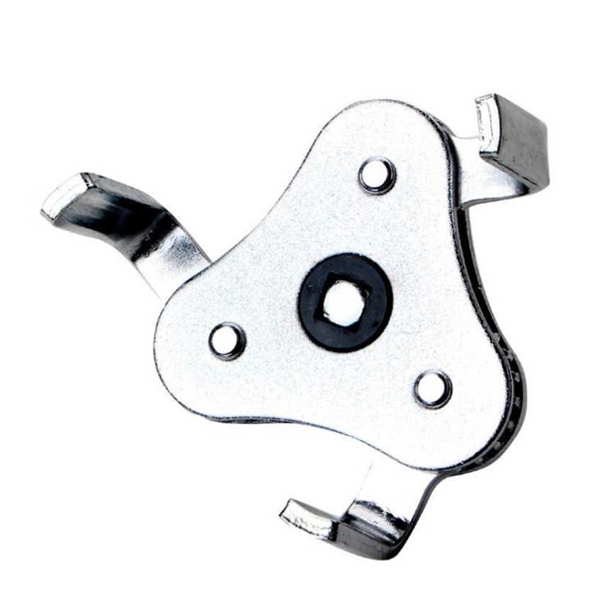 Llave inglesa de filtro de aceite para coche, herramientas de reparación, llave inglesa de filtro de aceite de dos vías ajustable, 3 removedores de mandíbula para coches y camiones de 65-110mm