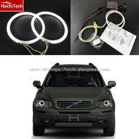 HochiTech WHITE 6000K CCFL Headlight Halo Angel Demon Eyes Kit Angel Eyes Light For Volvo XC90