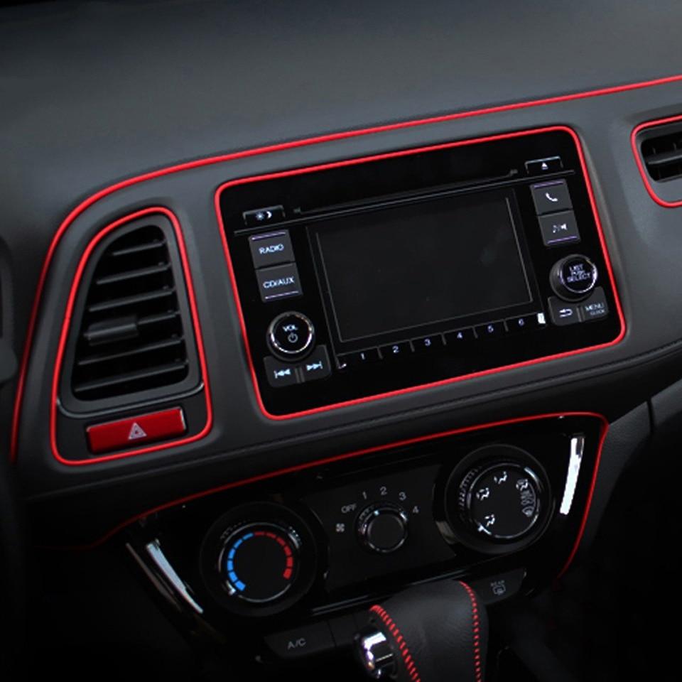 Style de voiture 5 M/pcs Universel bricolage Flexible Intérieur Décoration moulures de garniture De Voiture De Contrôle Central et Porte Bande de Décoration