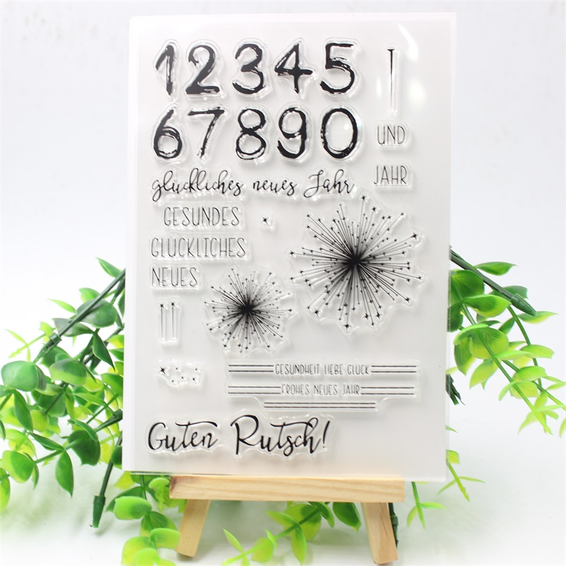 Dedicated Fireworks Diy Silicone Clear Stamp Cling Seal Scrapbook Embossing Album Decor Math Sets Drafting Supplies