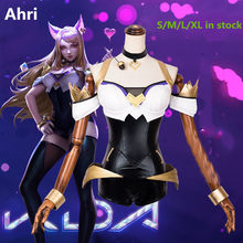 Anime!Hot Game LOL KDA Ahri Sexy Bodysuit Uniform Cosplay Costume Party Stage Performance Outfit Can be Customized Free Shipping(China)