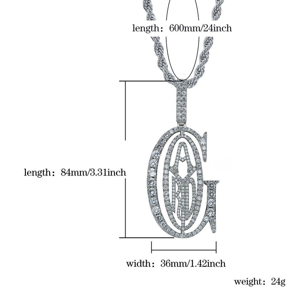 Image 3 - Подвеска TOPGRILLZ в стиле хип хоп, раппер Tyga G, с подвеской в виде льда, с микро кубическим цирконием, с большим залогом, для мужчин, подарок для ювелирных изделийОжерелья с подвеской   -