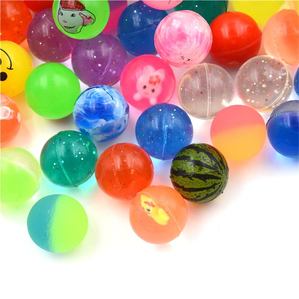 10 шт./лот Детские пинбол упругие игрушки Поплавок воды мяч игрушки смешанный прыгающий мяч ребенок малыш эластичный резиновый мяч