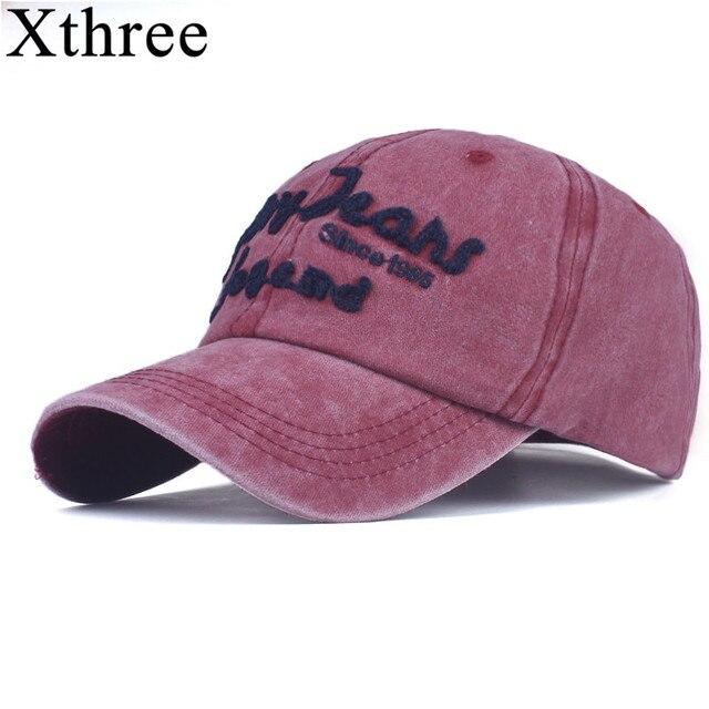 9f05fb3e59d Xthree men s Baseball Cap Snapback Hats For women Hip hop Gorras  Embroidered Vintage Hat Caps Casquette Bone Brand cap Retro
