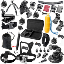 Gopro accessories set go pro kit mount SJCAM go pro Xiaomi Yi for Sony Act Cam HDR AS200V AS100V AZ1 mini FDR-X1000V/W 4 k