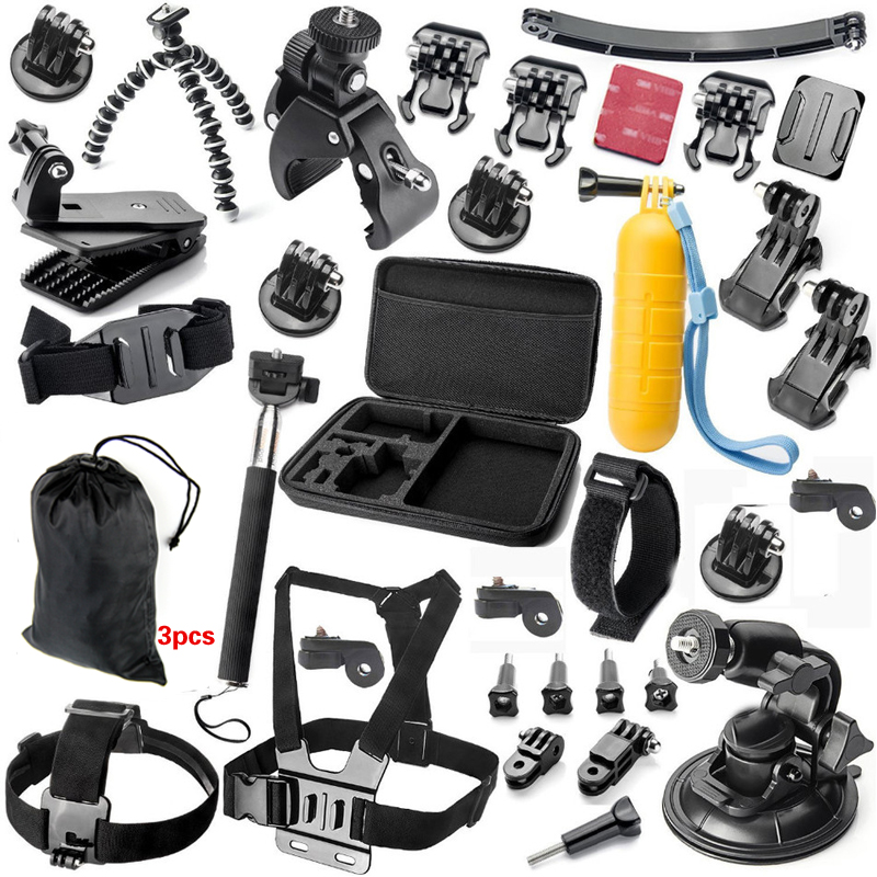 A9 For Gopro accessories set go pro kit mount  SJCAM Xiaomi Yi for  Sony Act Cam HDR AS200V AS100V AZ1 mini FDR-X1000V/W 4 k zs s3 hi quality curved surface mount pack with 3m sticker adhesive for sony fdr x1000v hdr as200v hdr as20 hdr az1vra