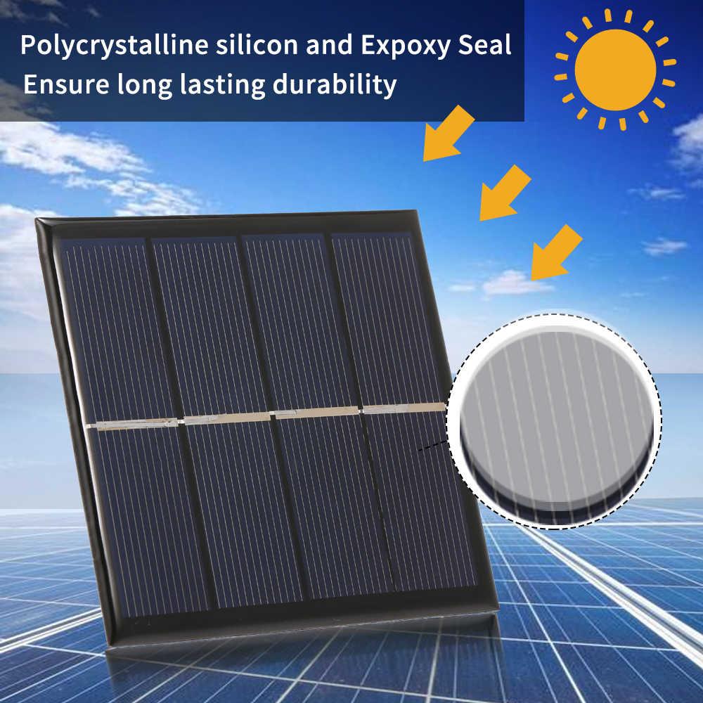 مصغرة الكريستالات السيليكون الايبوكسي لوحة طاقة شمسية 1 W/2 V شاحن بالطاقة الشمسية ل 1.2 V AA بطارية قابلة للشحن الذكية الشمسية بطارية Carger