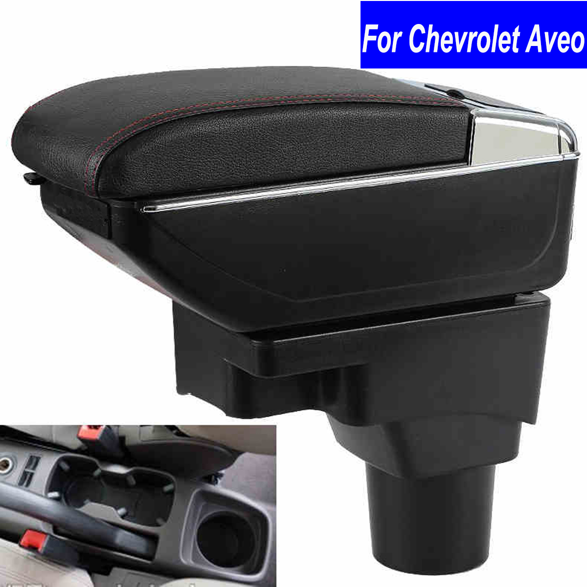 Leather Car Center Console Armrests Storage Box for Chevrolet Aveo 2011 2012 2013 2014 2015 2016 Auto Parts Armrest with USB car armrest central store content storage box with usb for chevrolet aveo sonic holden barina 2011 2012 2013 2014 2015 2016 2017