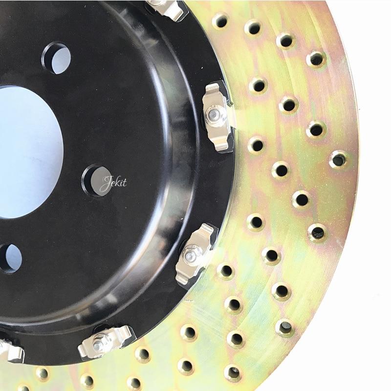 Jekit 380*34mm brake disc with bell 67mm center PCD 5*114.3*D15 for Maserati GTS front brake kit