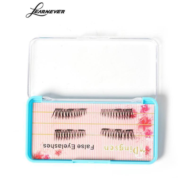 4 Pcs/pair Natural 3D Magnetic False Eyelashes Long Thick Soft Hair Individual Fake Eyelashes Extension Beauty Makeup Kits