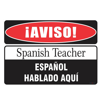 ZJY Vintage Home Decor Spanish Teacher Vintage Metal Tin Signs Tavern Shabby Chic Home  Shop Retro Art Poster Plaque Decor signs