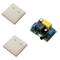 Mini Size 220V 1CH 10A Wireless Remote Control Switch Relay Receiver 86 Wall Panel Remote Transmitter