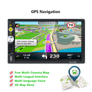 Image 2 - Hikity car radio 2 din autoradio RDS GPS Navigation FM Bluetooth multimedia video player With microphone remote control Stereo