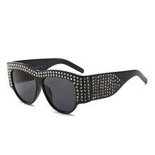 Vazrobe Strass lunettes de Soleil Femmes Hommes De Luxe Surdimensionné Noir  Blanc Diamant Étoile De Mode Lunettes de Soleil pour. da66c3053af6