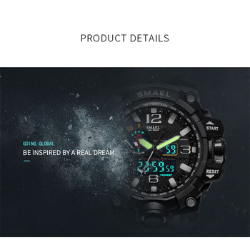 SMAEL Sport Watch Men Camo Military Mens Watches Bracelet Camouflage Army Green Watches 1545B Men's Chronograph Watch Waterproof