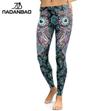 8abbe65236a30 NADANBAO New Design 2019 Leggings Women Cool Owl Digital Print Flower  Fitness Workout Leggins Slim Elastic Plus Size Pant Legins