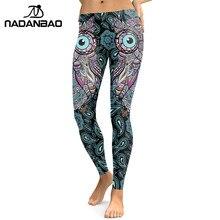 fe2bae740e NADANBAO New Design 2019 Leggings Women Cool Owl Digital Print Flower Fitness  Workout Leggins Slim Elastic