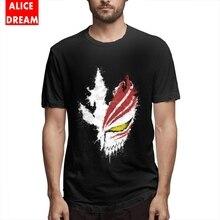 For Men Ink Hollow Bleach T Shirt Kurosaki Ichigo Great Tees Crewneck S-6XL Plus Size Homme Tee