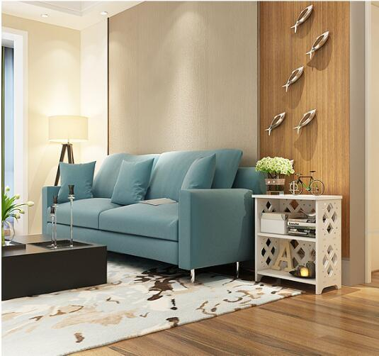 Modern Wood Bedside Table Sofa Side Coffee Table Living Room Storage Cabinet Balcony Flower Stand Multi-Layer Carving Bookshelf