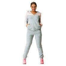 цены на Women Two Piece Set Tracksuits For Women Top And Pants Contrast Color Long Sleeve Hoodies Sets Sweatshirt Sporting Suit Female  в интернет-магазинах