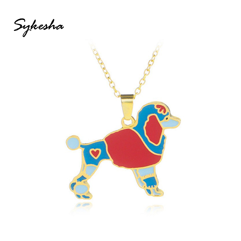 2018 Stylish Enamel Pet Jewelry Collar Pendant Necklace Alloy Puppy Dog Choker Necklace Gold ChainPet Lovers Gift