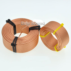 1pcs 1.8mH-3.3mH 0.52mmx7 Multi Strand Wire Speaker Crossover Audio Amplifier Inductor Oxygen-Free Copper Wire Coil #Copper