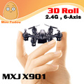 X901 MJX RC Helicóptero 4 Canales 6 Ejes Mini Quadcopter Con Luz LED Blanco y Negro Quad Copter Helicóptero Depredador Drone