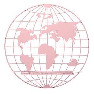 Image 3 - Décoration scandinave, étagère de cartes du monde en métal, support de rangement, décoration de chambre denfant, nouvelle collection 2018