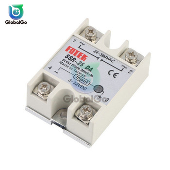 Solid State Relay SSR-25DA SSR-40DA SSR-60DA SSR-100DA 25A 40A 60A 100A DC Single Phase Relay Control Switch free shipping new arrival ssr 40a 60a 100a output 35 480vac input 3 32vdc single phase solid state relay ssr low switch loss