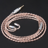 AK Newest 4 Core 7N Copper And Silver Plated Cable 2 5 3 5mm Balanced Cable