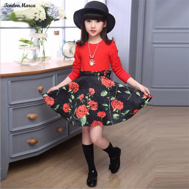 9ce989a3841c Online Shop Girls Dresses Summer 2018 Children Dress for Girls 11 years old  Long Sleeve Kids Clothes Girls Flower Girl Dress Party Dresses