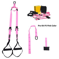 Military Grade Suspension Straps Total Body Workout Trainer Pink Color Resistance Bands Chin Up Pull Up