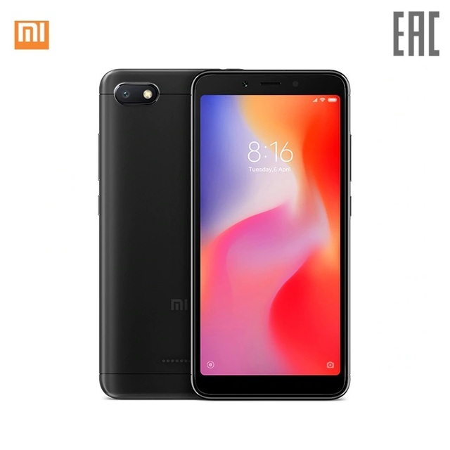 Xiaomi Redmi 6A RU 16 ГБ, скидка 3% при заказе от 3 шт.[официальная гарантия, быстрая доставка]