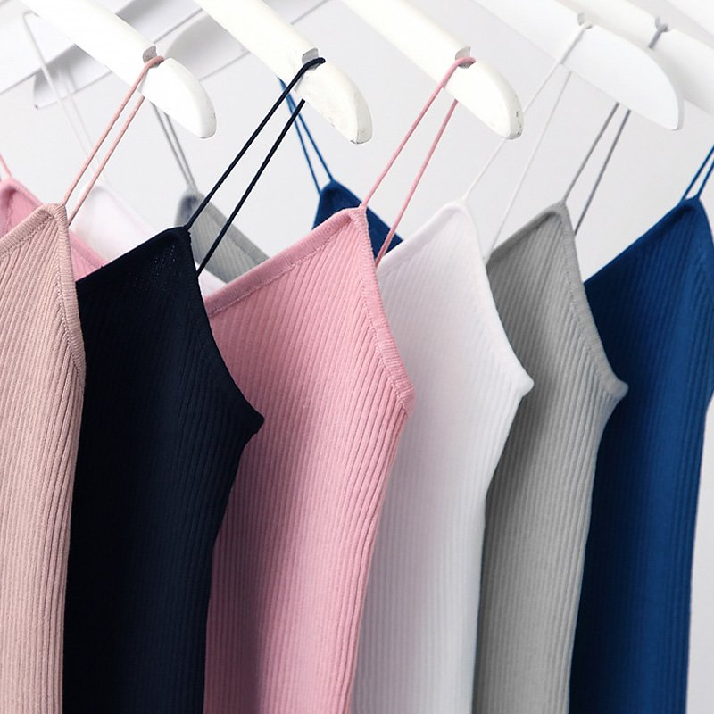 Female Elastic Slanke   Tank     Tops   Woman Spaghetti Strap Summer Vest Low Cut Sexy Camis For Women   Top