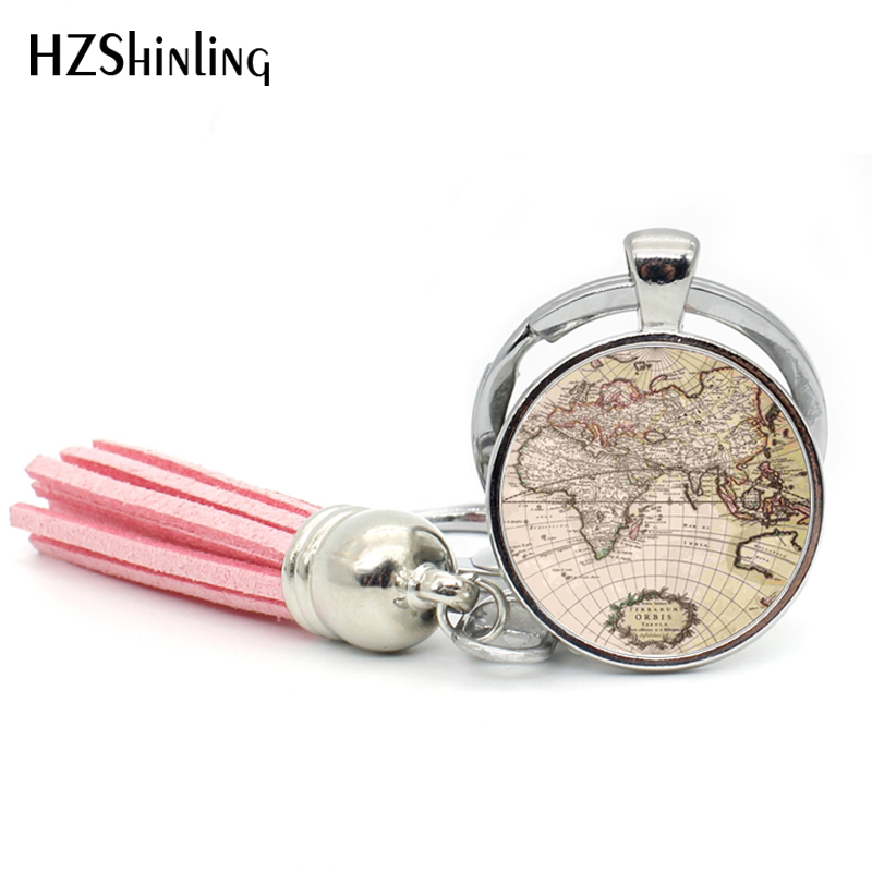 Buy world map keyring and get free shipping on aliexpress gumiabroncs Gallery