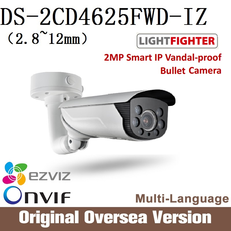 HIKVISION  DS-2CD4625FWD-IZ 2.8-12mm Ip Bullet Camera 1080p Poe Ip66 English Version H265 WDR Onvif RJ45 lightfighter upgrade hikvision ds 2cd4a25fwd iz 2mp smart ip camera cctv bullet 1080p poe ip67 ir english version h265 wdr onvif rj45 lightfighter