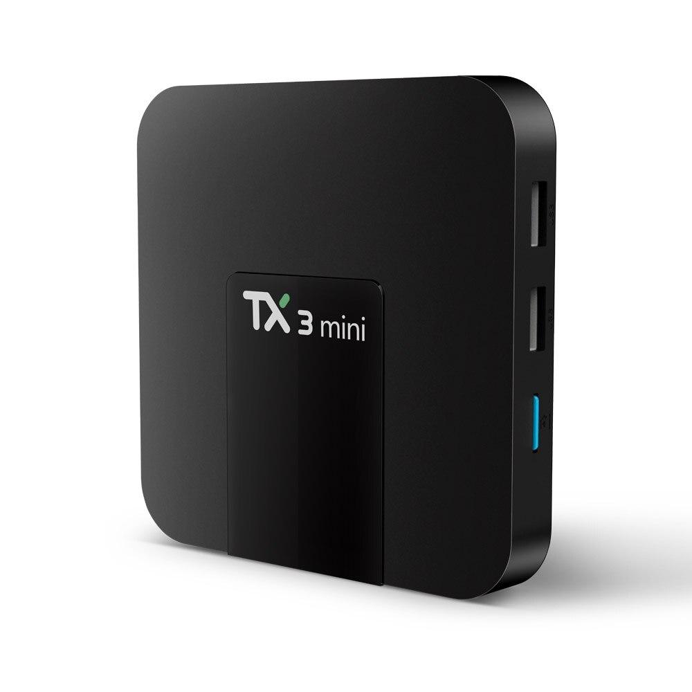 2018 TX3 mini Android 7.1 Smart TV BOX 2GB 16GB Amlogic S905W Quad Core Set-top box H.265 4K WiFi IPTV Box TX3mini 1GB 8GB