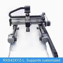 XYZ автоматический портальный робот с ЧПУ Линейный модуль направляющий шариковый винт направляющей движения привода Workbench Роботизированная рука Z оси 100 мм