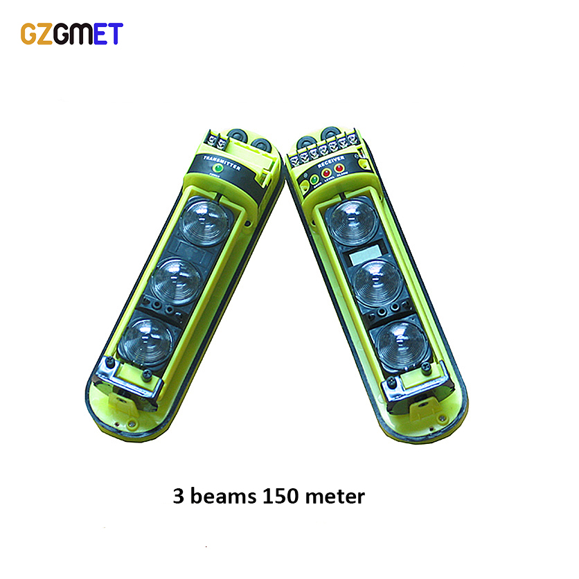 GZGMET 150 Meter Active Infrared 3 Beam Detector Security Systems Windows SensorGZGMET 150 Meter Active Infrared 3 Beam Detector Security Systems Windows Sensor