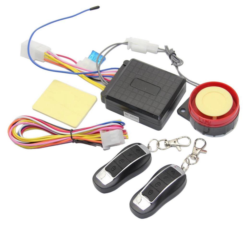 General Bike Motorcycle Alarm System Anti-theft 3.5mA Black Alarm Security DC 12V About Speaker