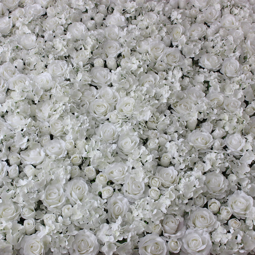 White artificial flower wall for wedding decoration silk hydrangea white artificial flower wall for wedding decoration silk hydrangea and rose mixed 60cm40 cm 10 pclot in artificial dried flowers from home garden on mightylinksfo