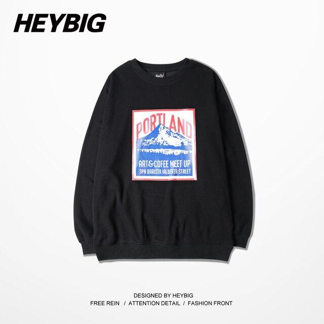 Ameican Style Portland print crewneck Sweatshirts Men HEYBIG street Tracksuit 2016 Nov. NEW hip hop Hoodies Asian Size! clothing