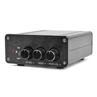 AIYIMA Mini Digital Power Amplifier TPA3116 NE5532 2.1 Channel High Power Digital Audio Amplifier HiFi AMP 50W*2+100W