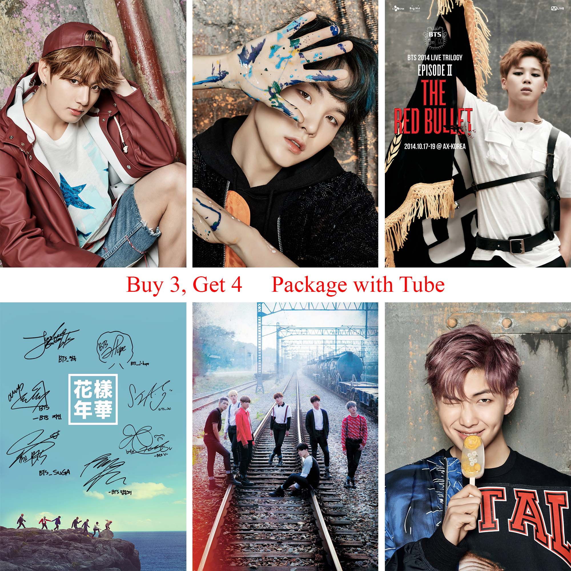 BTS Poster K Pop Paper Print Home Decoration High