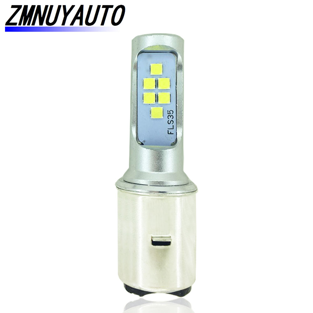 LED BA20D H6 Motorcycle Headlight Bulb Canbus 1200LM Motorbike Front Lamp Scooter Accessoire Moto Headlamp DRL Fog Lights White