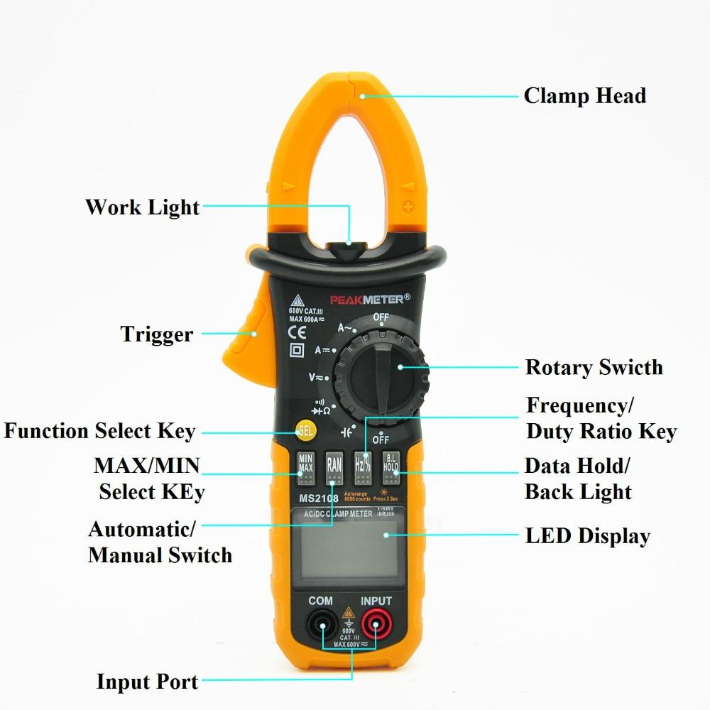 ФОТО Auto Range ture Multimeter digitial professional good qulity  resistance frequency LED display  MS2108