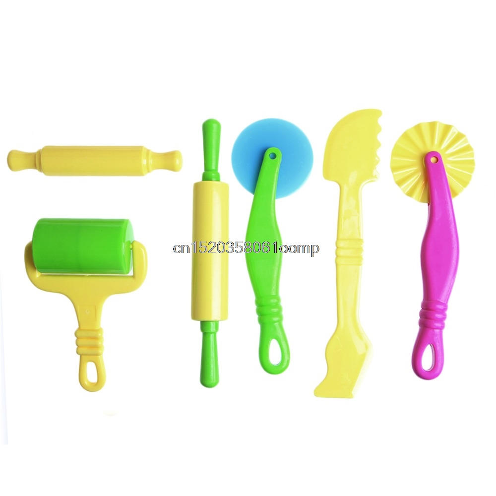 New 6Pcs Pottery Clay Plasticine Dough Sculpture Modelling Tools Kids Pretend Play Toy # ...